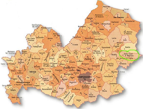 Cartina Del Molise Geografica.Il Molise Storia E Cartine